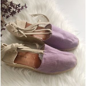 Andre Assous purple wedges heels ✨ size 8.5